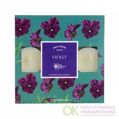 Набор ароматических чайных свечей Цветущая фиалка 9 шт.