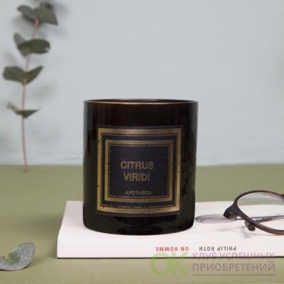 ЗЕЛЕНЫЙ ЦИТРУС / CITRUS VIRIDI  Парфюмированная свеча  в подарочной коробке, вес - 240 гр, время горения -50-60  часов