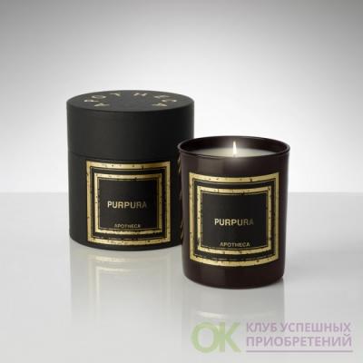 ИНЖИР / PURPURA Парфюмированная свеча  в подарочной коробке, вес - 240 гр, время горения -50-60  часов