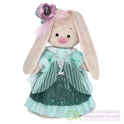 Зайка Ми барышня в персидском зеленом, игрушка мягкая BudiBasa 25см