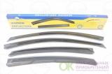 Дефлекторы окон Black Hyundai Solaris (седан) 2010 - 2014 AMDDK164