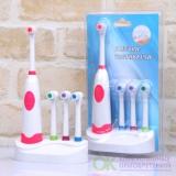 Электрическая зубная щетка с 4 насадками