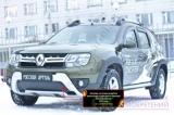 Зимняя заглушка решётки переднего бампера Renault Duster 2015-