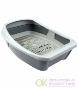 Туалет для кошек СИБИРСКАЯ КОШКА ЕВРО глубокий с сеткой и бортиком - 24001