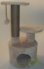 Домик-когтеточка 40x40x75 Ореон круглый с 2 лежанками