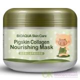 Bioaqua Ночная коллагеновая маска для лица и шеи (Pigskin collagen nourishing mask), 100 гр.