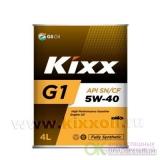 KIXX Synthetic G1 5w40 SN PLUS бензин  4 л (масло синтетическое) металл.
