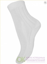 (арт. 14C107) Носки хлопковые однотонные в сеточку одинарная резинка