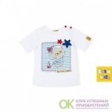 """Футболка белая К152 из коллекции """"My Little Captain"""""""