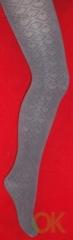 Dover (Алиса) цветные колготки со сплошным узором из хлопка и модала для школьниц арт.2075