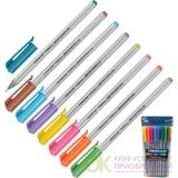 Ручка шариковая PENSAN TRIBALL набор 8 цв. 1,0мм 1003/PVC8 Артикул 735663