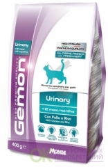 Gemon Cat Urinary корм для профилактики мочекаменной болезни для взрослых кошек с курицей и рисом 400г-70297059