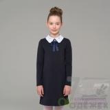 587Q Платье школьное с длинным рукавом