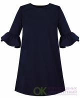 83652-ДШ19 Синее школьное платье для девочки