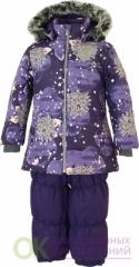 45020030-83273-110 Комплект для девочек NOVALLA, тёмно-лилoвый с принтом/тёмно-лилoвый 83273, размер