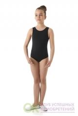 Купальник гимнастический 975.013.442 для танцев из хлопкового трикотажа. Без рукавов и юбки. Супрем
