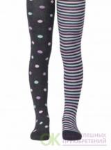 Колготки Conte-kids Tip-Top (веселые ножки),рис. 508 темно-серый