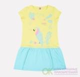 Платье для девочки Optop К 5511/бл.лимон+минт