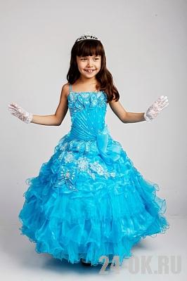 Детское платье на корсете